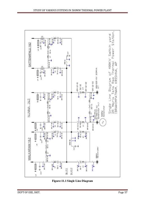 study of thermal power plant layout figure 1 220kv single line best free home design