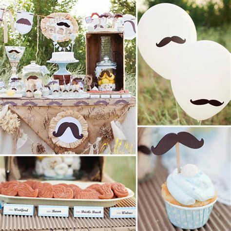 mustache themed baby shower decorations mustache baby shower popsugar