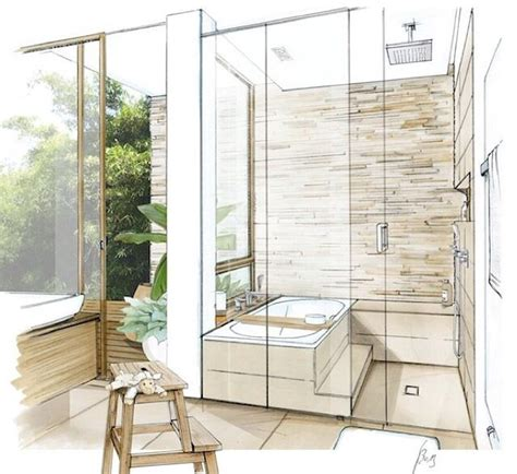 sketch of a bathroom 25 best ideas about interior sketch on pinterest