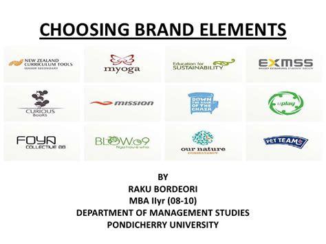 Criteria For Choosing Mba by Choosing Brand Elements