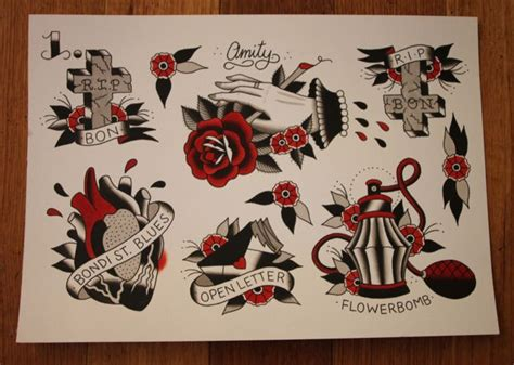 amity affliction tattoos gorgeous the amity affliction themed flashes done by ahren