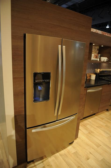 copper colored appliances up close with whirlpool s new sunset bronze finish