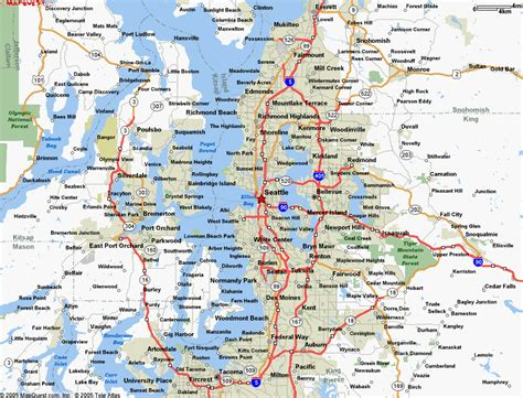 map of seattle area map seattle wa slowcatchup