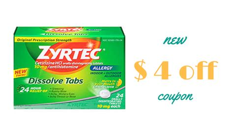 printable zyrtec coupon new 4 off zyrtec coupon southern savers