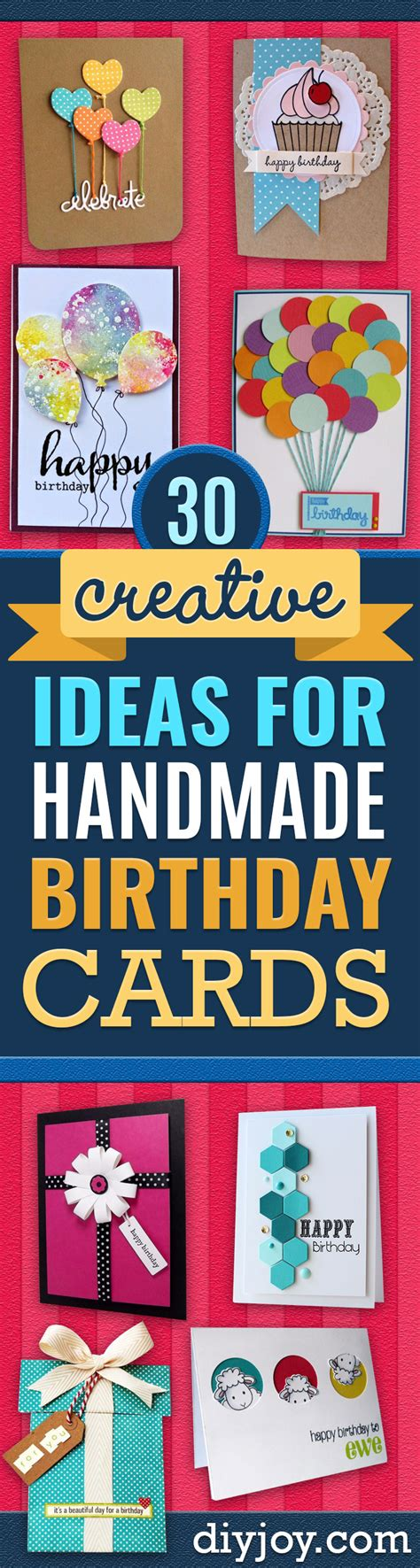 Creative Ideas For Handmade Birthday Cards - birthday card ideas free photo cards