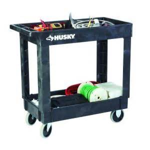 home depot cart husky 16 in 2 shelf utility cart black 1866880 the