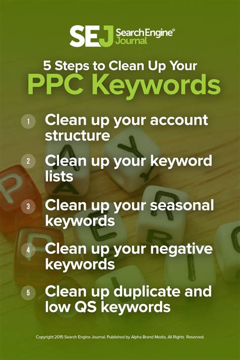 8 Steps To A Clean Up by 5 Steps To Clean Up Your Ppc Keywords Sej