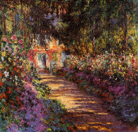 garten monet garden path at giverny 1902 by claude monet