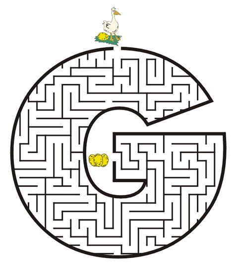 free printable alphabet maze free printable maze for kids uppercase letter g