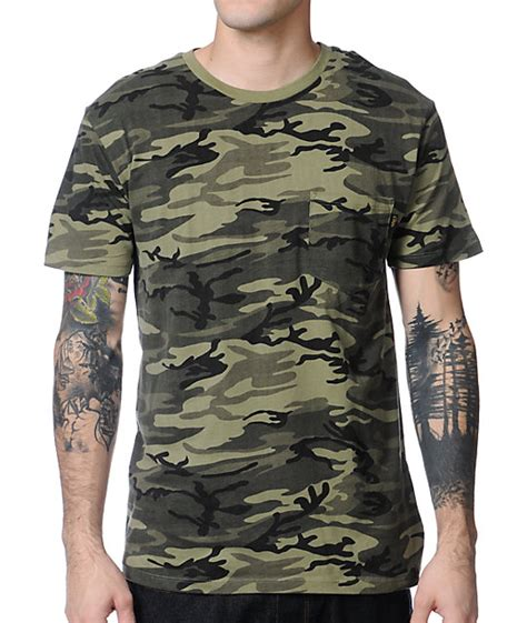 Obey Camo obey camo pocket t shirt at zumiez pdp