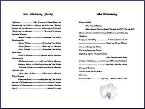 Church Program Template Tristarhomecareinc Church Wedding Program Template