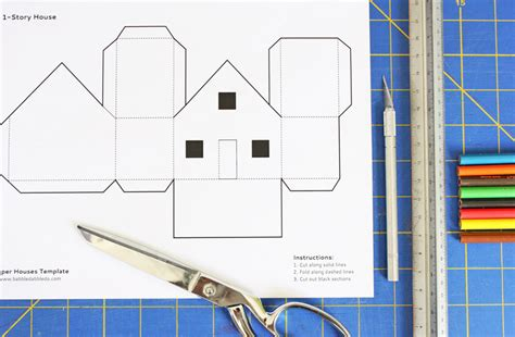 card stock house templates design for paper houses babble dabble do