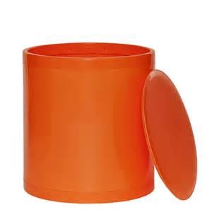 orange colored stool otto storage stool solid orange