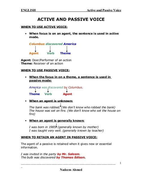 pattern of active voice to passive voice english active and passive voice active and passive voice