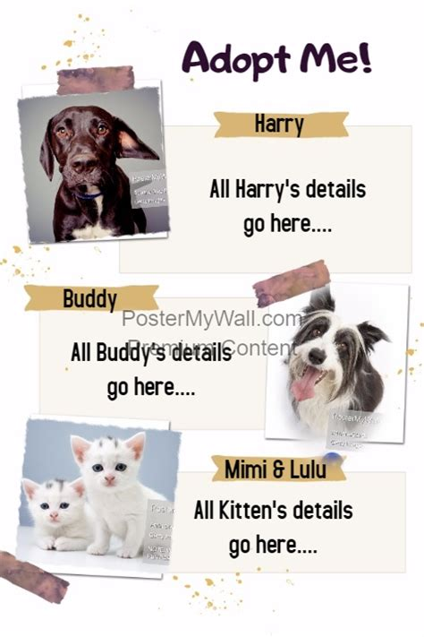 Free Pet Adoption Flyer Template
