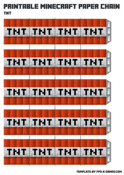 minecraft tnt block template printable minecraft paper chain tnt jpg 1 131 215 1 600 pixels