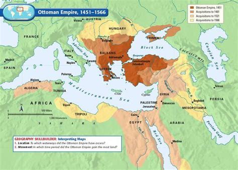 Map Of Ottoman Empire With Facts Istanbul Tour Guide Ottoman Conquest Of