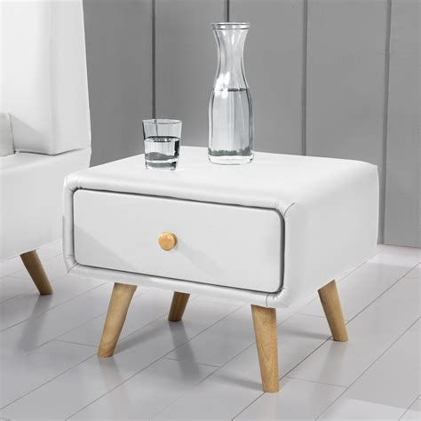 blanc table de chevet scandinave blanc avec 1