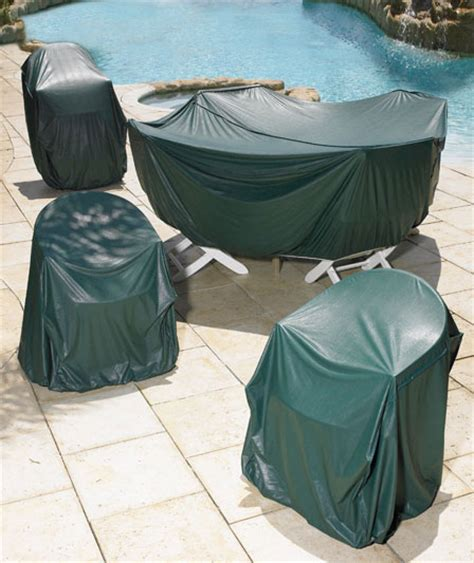 Plastic Covers For Patio Furniture by Green Pvc Plastic Patio Furniture Cover For Outdoor Deck