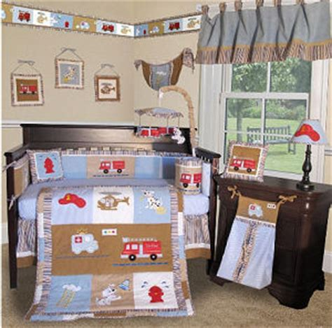 Fireman Crib Bedding Truck Baby Bedding With Dalmations And Engines