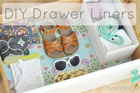 sparkle diy drawer liner tutorial reorg and design