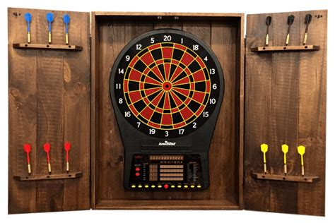 rustic dartboard cabinet peters billiards