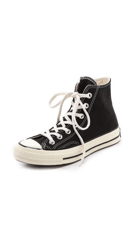 all black high top sneakers converse all 70s high top sneakers in black lyst