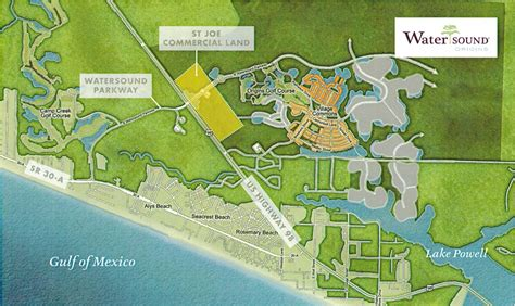 watersound florida map watersound origins commercial for sale or lease ft