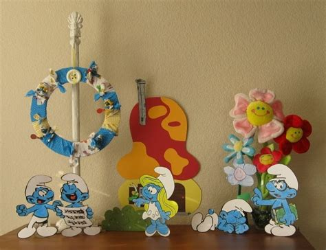 smurfs theme decorations the paper pony smurfday part 1 decorations
