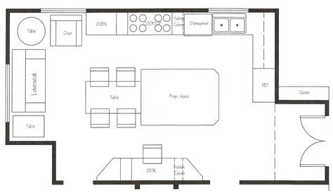 Interior Modern Kitchen Floor Plan Kitchen Design Blueprints