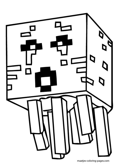 minecraft guardian coloring page minecraft coloring pages coloring pages pinterest