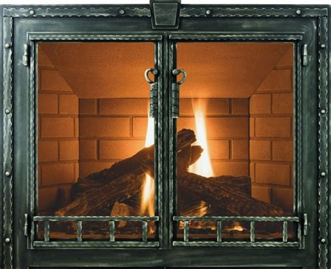 blacksmith stoll fireplace glass door custom product