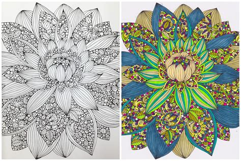 coloring book for adults finished liza lou use your finished coloring page to make