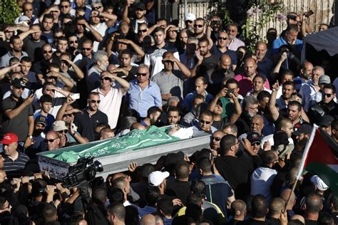 thousands attend funeral of arab israeli during