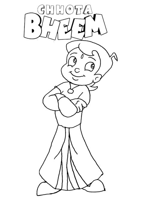 chhota bheem chota characters coloring pages list