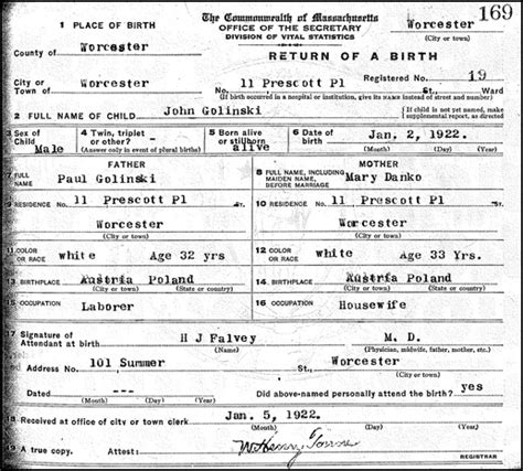 Birth Record A Marriage And Two Births Steve S Genealogy
