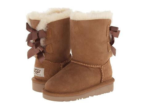 toddler ugg slippers ugg bailey bow toddler kid zappos free