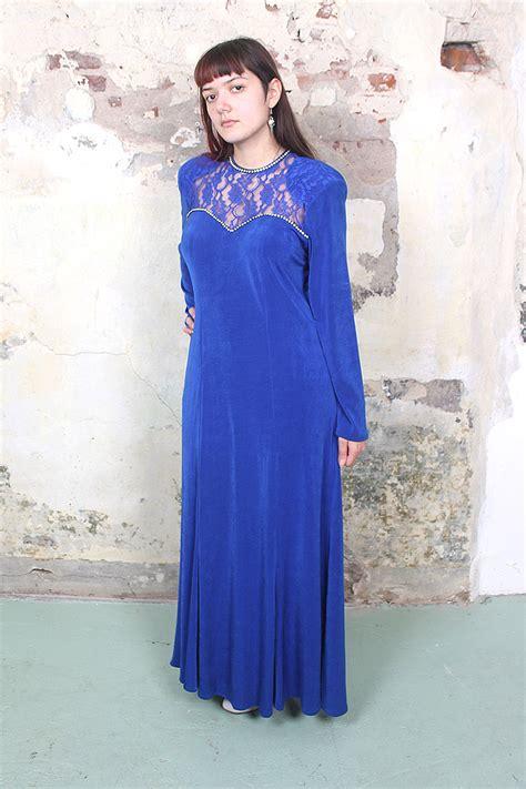 blauwe overhemd jurk lange blauwe galajurk met kant en strass froufrou s