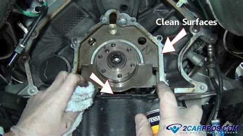 replace  engine rear main seal    hours