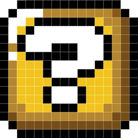 mario pixel template mario mystery box pixel minecraft project