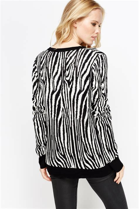 Print V Neck Cardigan zebra print v neck cardigan just 163 5