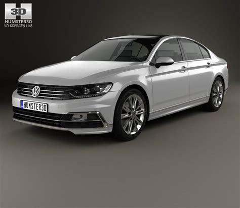 volkswagen passat r volkswagen passat r line b8 sedan 2015 3d model humster3d