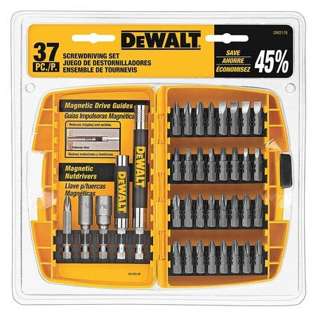 Promo Promo Promo 18 Pcs Screwdriver Set With Drill Bit Extender Obe dewalt steel screwdriving set 37 pcs dw2176 zoro