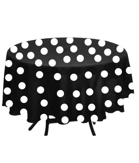 Table Runner Monochrome Minimalis Motif Polka 30 polka dot fabric tablecloth by florida tablecloth factory black and white florida