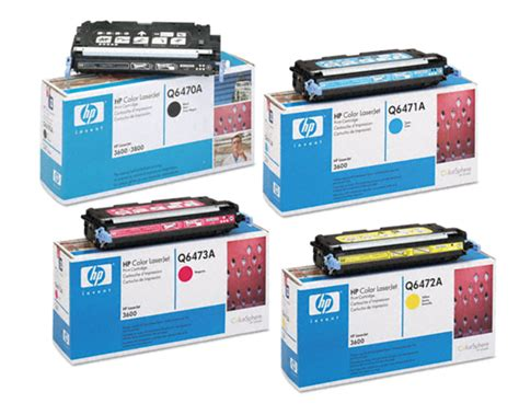 Toner Q6471a 4 color set of toner cartridges part q6470a q6471a