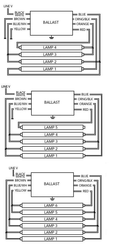 wiring fluorescent lights in parallel diagram fluorescent