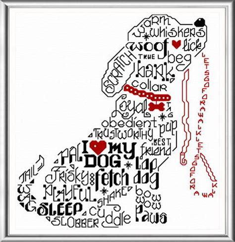cross stitch pattern for words let s bark cross stitch pattern words