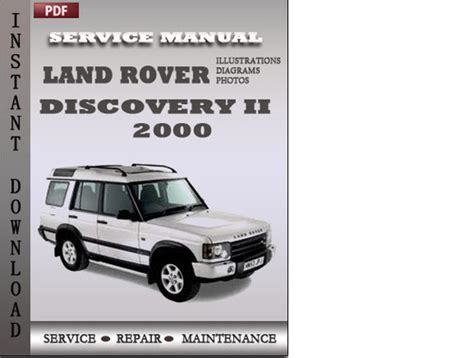 car repair manuals online free 2000 land rover discovery electronic throttle control land rover discovery 2 2000 factory service manual