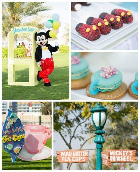 disneyland themed birthday planning ideas decor styling cupcake favors themed