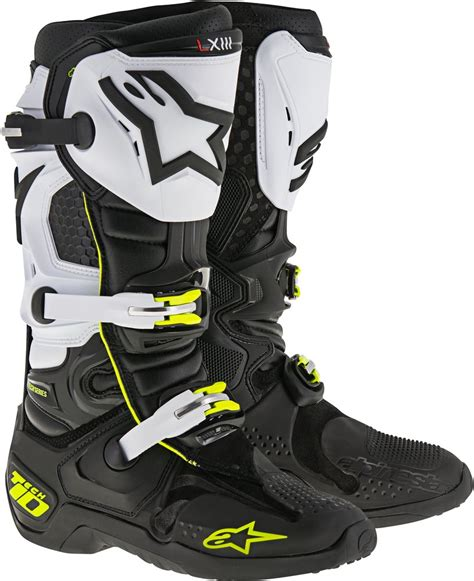 motocross riding boots alpinestars mens tech 10 mx motocross offroad riding boots